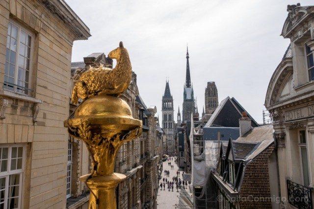 Que Visitar En Rouen Torre Reloj Vista Cordero