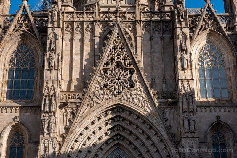 Que Ver en Barcelona 3 Dias Catedral Fachada