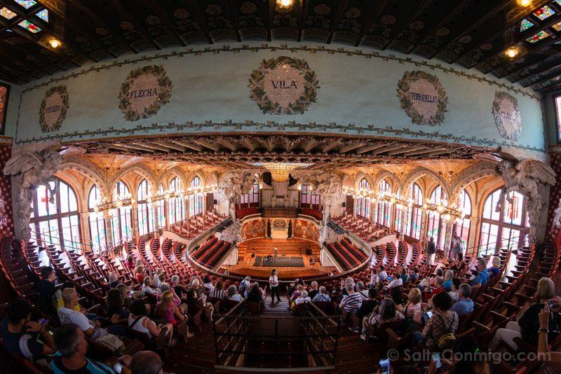Que Ver en Barcelona 3 Dias Palau Musica Sala Conciertos