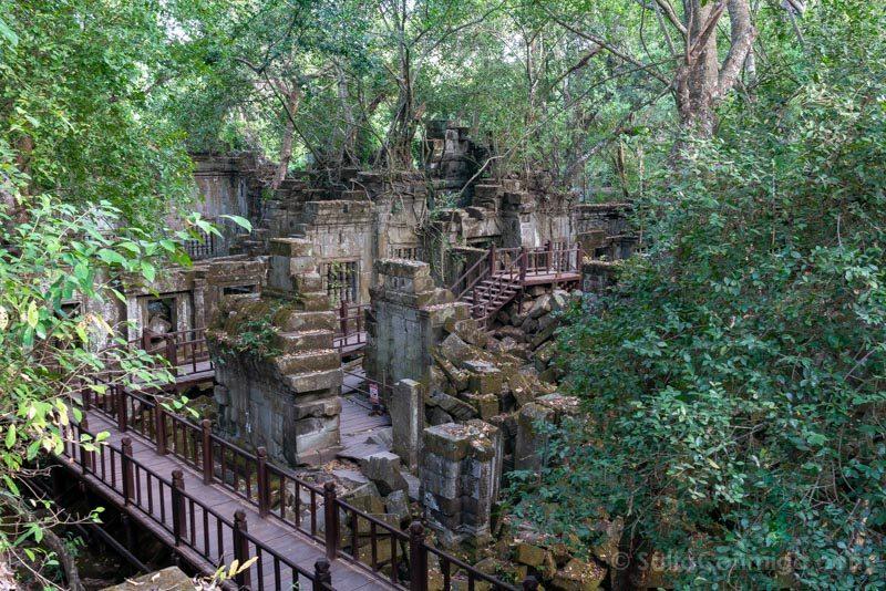 Templos Camboya Beng Mealea Pasarelas