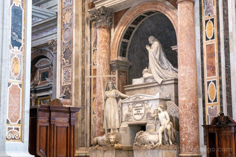 Basilica San Pedro Roma Monumento Clemente XIII