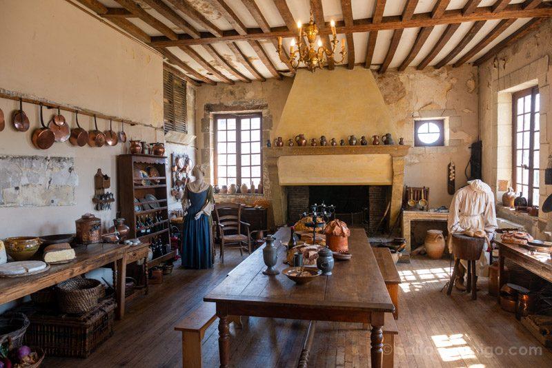Castillo Meung-sur-Loire Cocina Completa