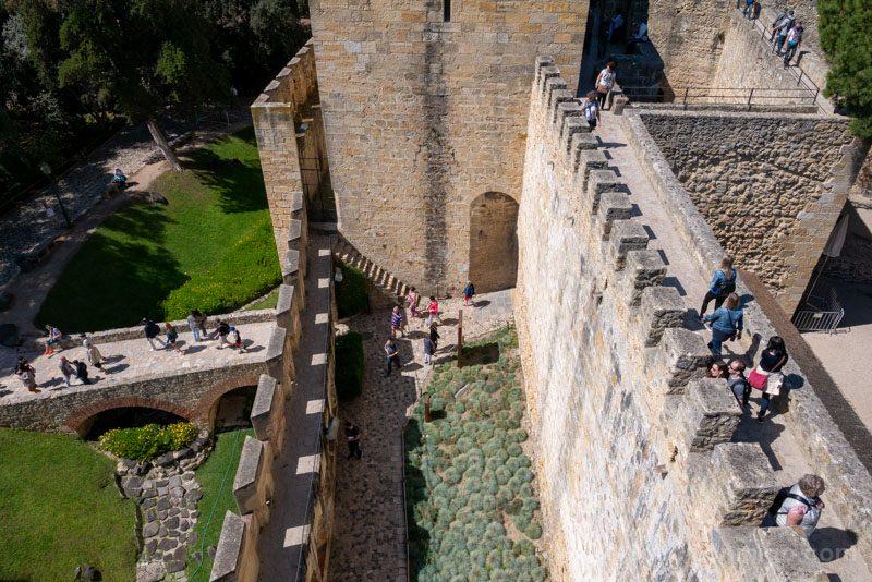 Castillo de San Jorge Lisboa Camino Ronda Sistema Defensivo