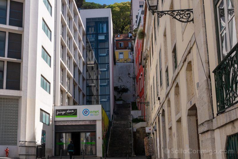 Castillo de San Jorge Lisboa Elevador Castelo