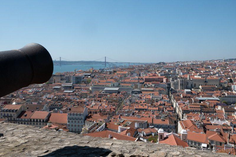 Castillo de San Jorge Lisboa Mirador Canon