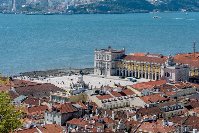Castillo de San Jorge Lisboa Mirador Plaza Comercio