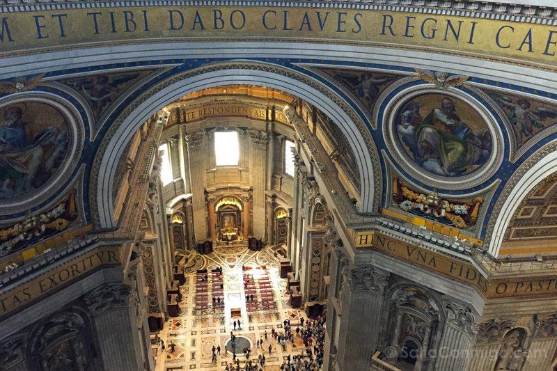 Cupula San Pedro Roma Interior Letras