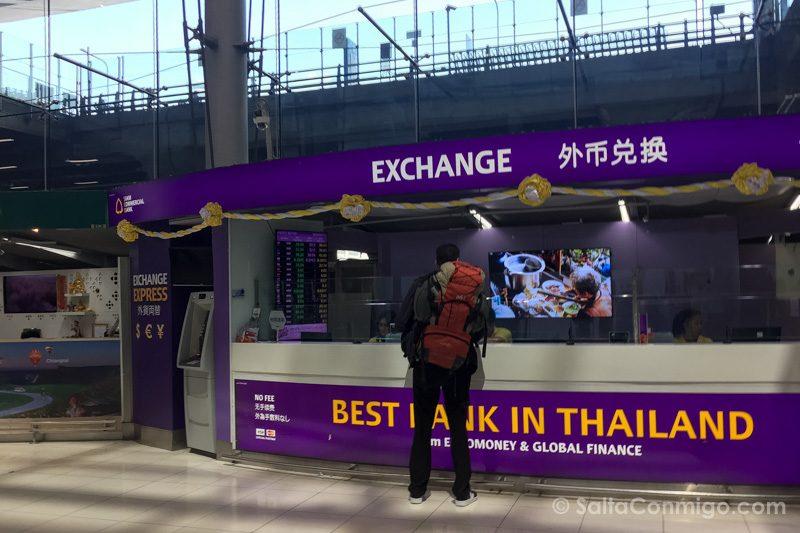 Dinero en Tailandia Casa Cambio Aeropuerto