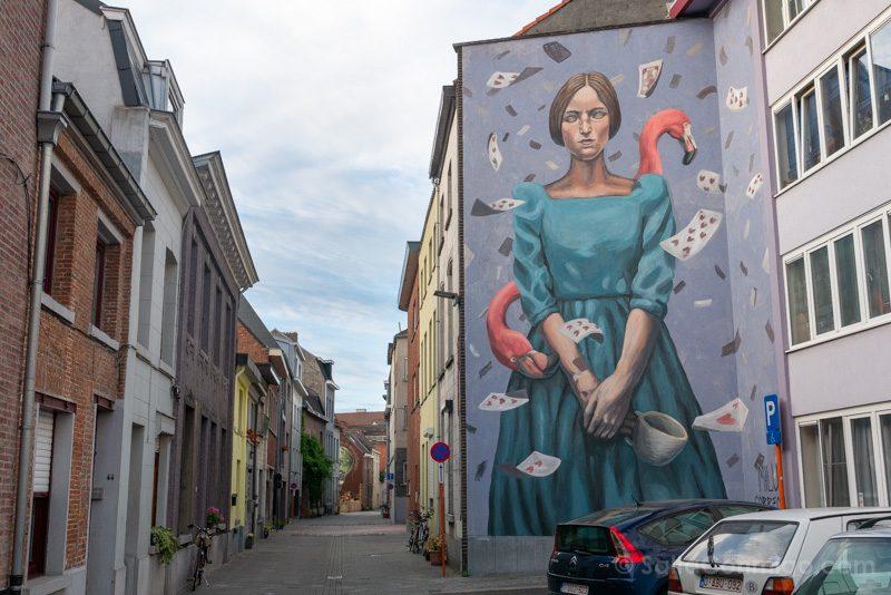 Murales de Malinas Milu Correch Alicia Duerme