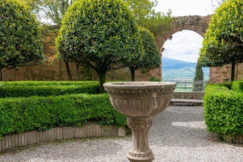 Que Ver en Pienza Palacio Piccolomini Jardin