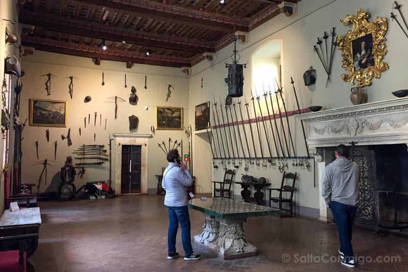 Que Ver en Pienza Palacio Piccolomini Sala