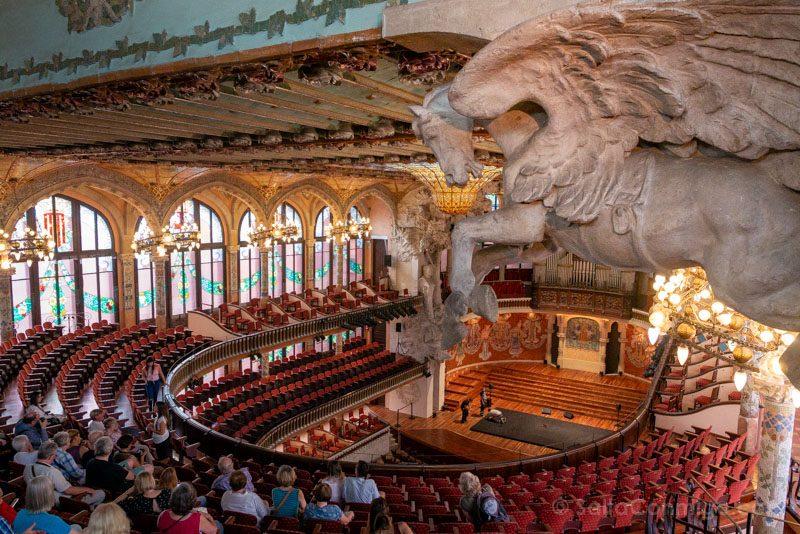 Visita Palau de la Musica Catalana Decoracion Caballo Alado