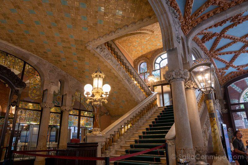 Visita Palau de la Musica Catalana Escalera