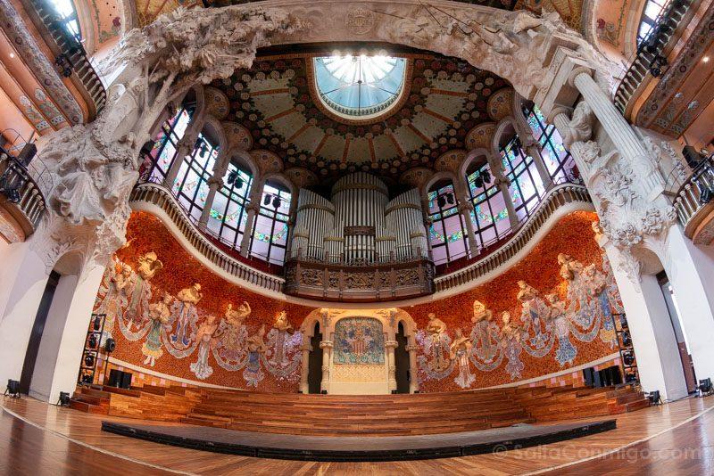 Visita Palau de la Musica Catalana Escenario Ojo Pez