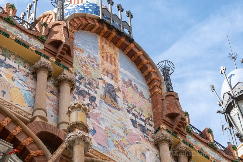 Visita Palau de la Musica Catalana Fachada Mosaico