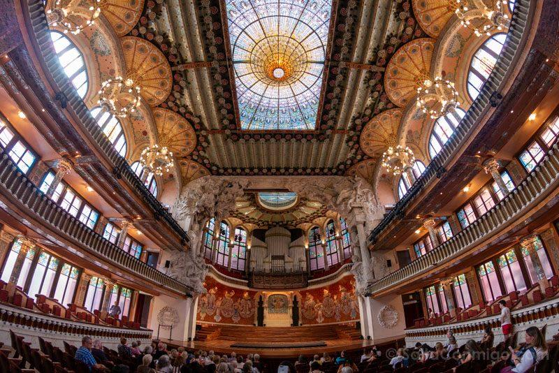 Visita Palau de la Musica Catalana Sala Conciertos Ojo Pez
