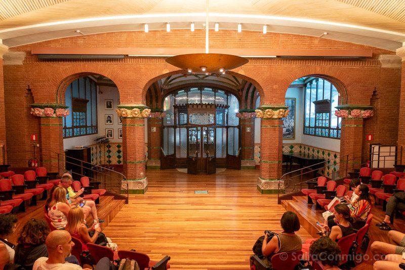 Visita Palau de la Musica Catalana Sala Ensayos