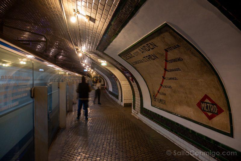 Estacion Fantasma Chamberi Anden Linea