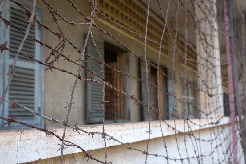 Genocidio Camboyano Museo Tuol Sleng Edificio B Alambre Espino