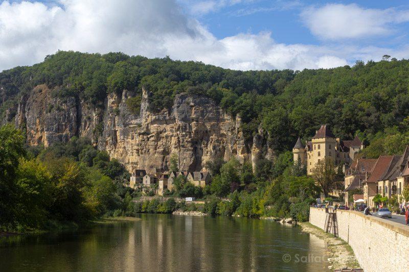 Pueblos De Francia Nueva Aquitania La Roque-Gageac Rio