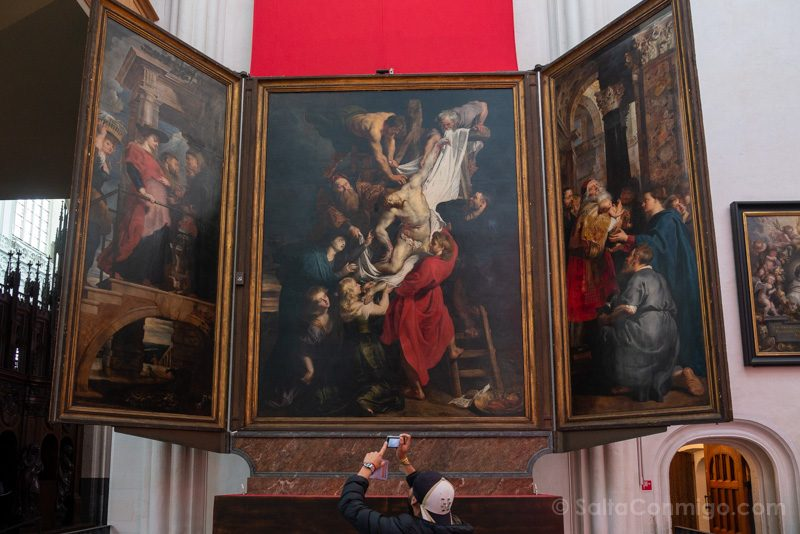 Que Visitar En Amberes Catedral Nuestra Senora Descendimiento Rubens