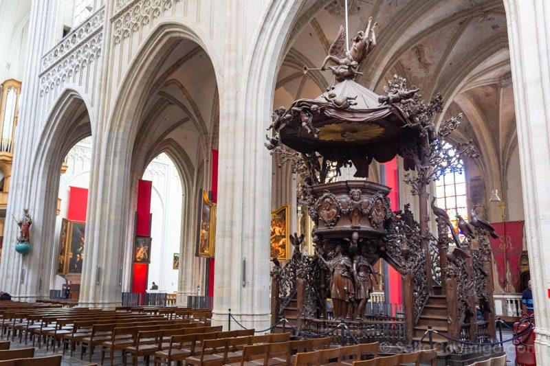 Que Ver En Amberes Catedral Nuestra Senora Pulpito