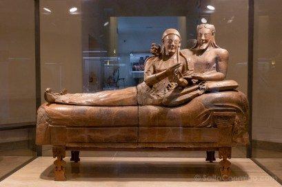 Museos en Roma Museo Nacional Etrusco Sarcofago Esposos