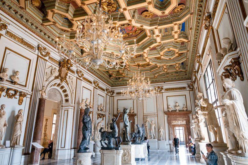 Museos en Roma Museos Capitolinos Salon Central Nuevo