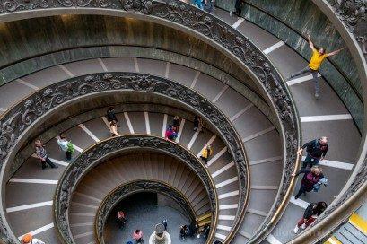 Museos en Roma Museos Vaticanos Escalera Helicoidal Salto