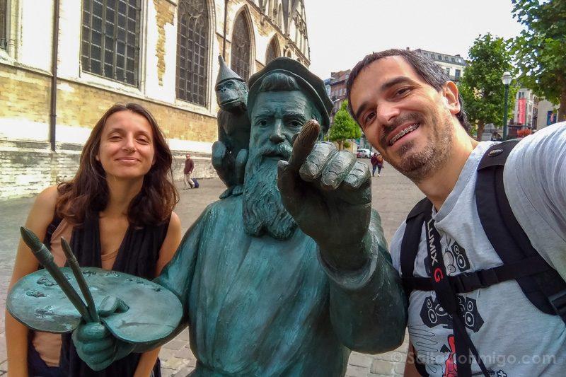 Que Hacer Ver Bruselas Brueghel Viejo Selfie