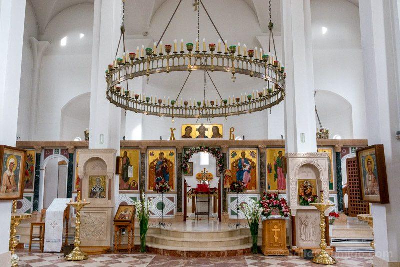 Catedral Ortodoxa Rusa Interior General Iconostasio