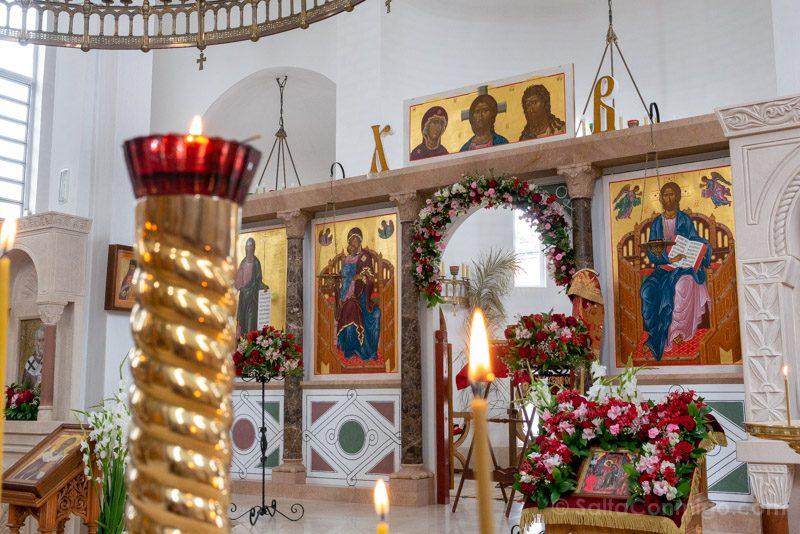 Catedral Ortodoxa Rusa Interior Iconostasio Ofrenda
