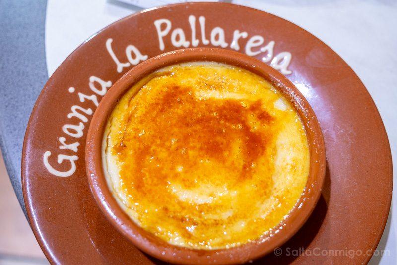 Comer en Barrio Gotico Granja La Pallaresa Crema Catalana