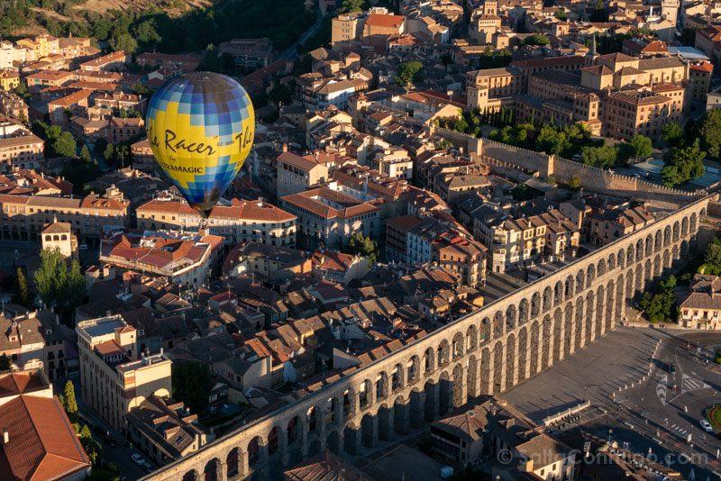 Volar Globo Segovia Festival Acueducto