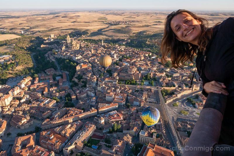 Volar Globo Segovia Festival Sara
