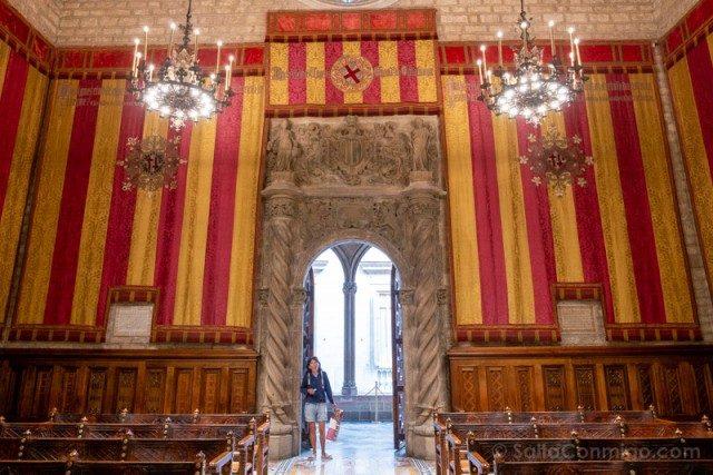 Ayuntamiento Barcelona Casa Ciutat Salo Cent Puerta Trentenari