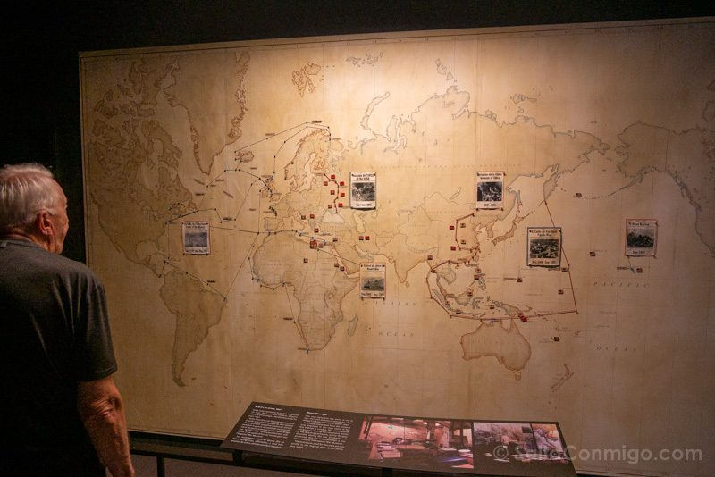 Memorial de Caen Guerra Mundial Mapa