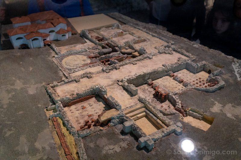 Museos de Gijon Termas Romanas de Campo Valdes Maqueta