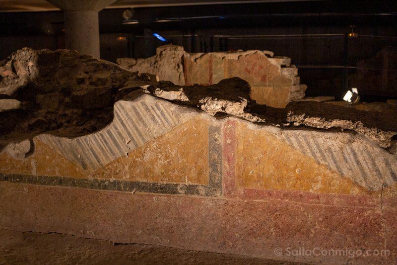 Museos de Gijon Termas Romanas de Campo Valdes Pared Pintada