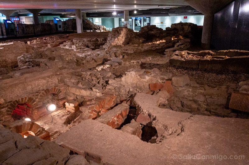 Museos de Gijon Termas Romanas de Campo Valdes Yacimiento