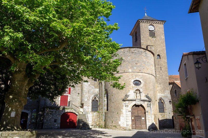 Templarios en Francia Sainte-Eulalie de Cernon Iglesia Abside