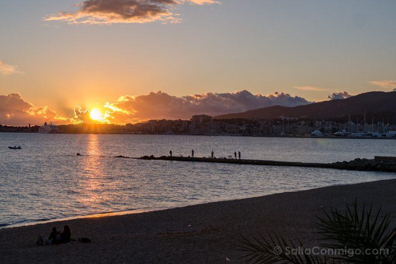 Palma de Mallorca Atardecer Playa