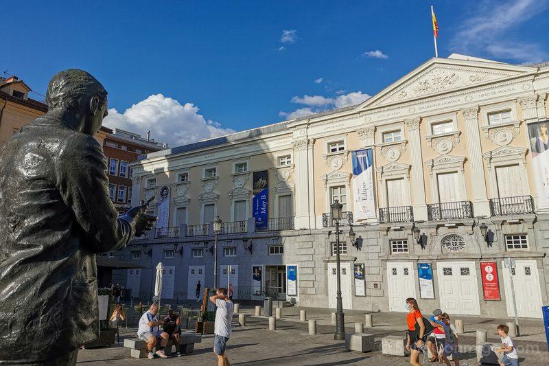 Que Ver En El Barrio De Las Letras Madrid Plaza Santa Ana Federico Garcia Lorca