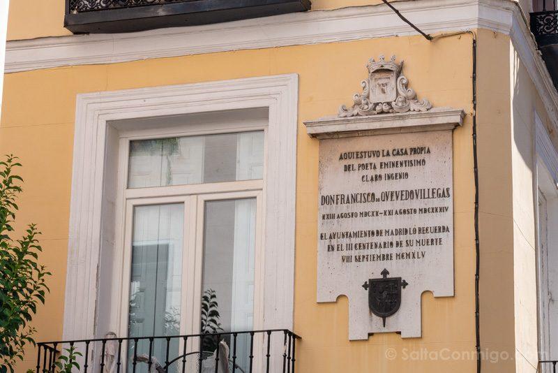 Que Ver En El Barrio De Las Letras Madrid Quevedo