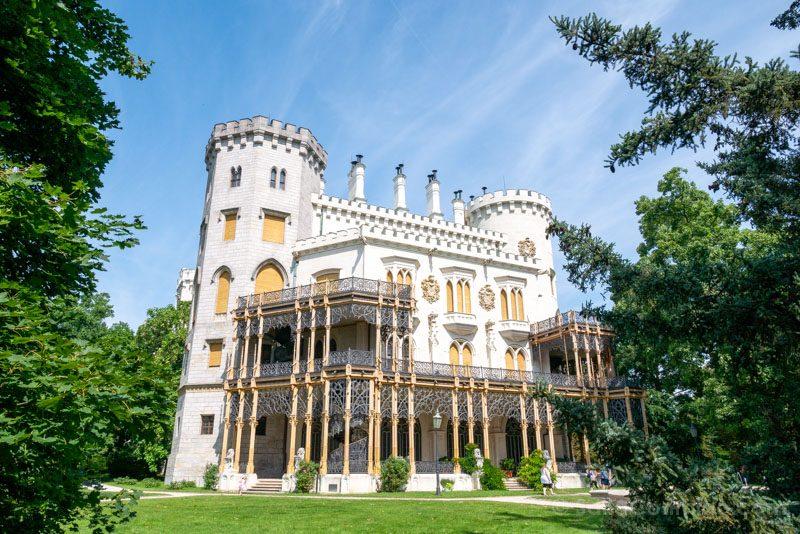 Castillo De Hluboka nad Vltavou Fachada Trasera
