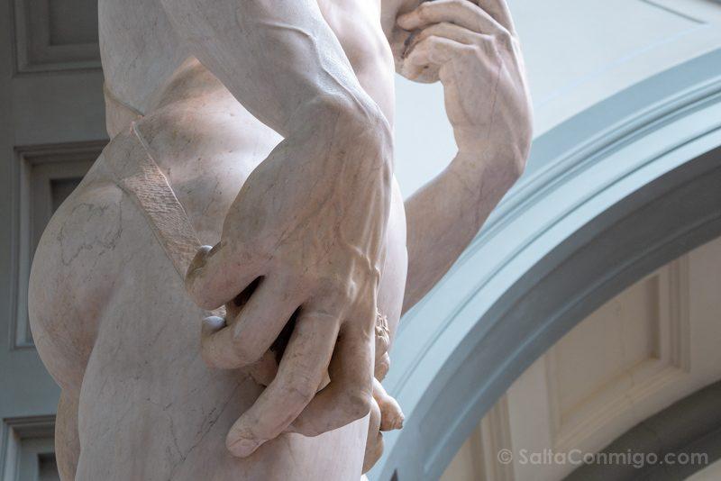 Galeria de la Academia de Florencia David Detalle Mano