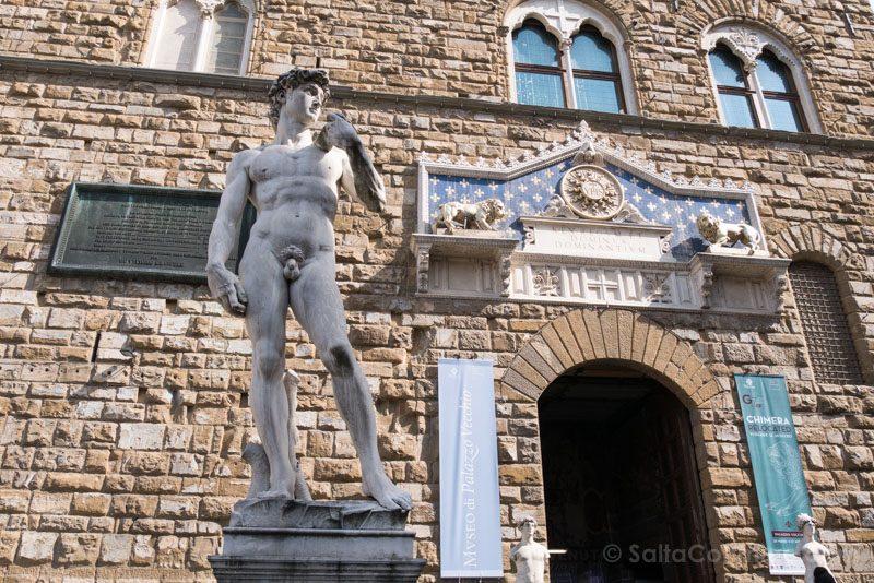 Piazza Signoria Florencia David Copia