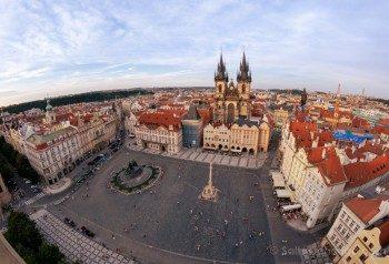 Miradores de Praga Ayuntamiento Viejo Plaza Atardecer
