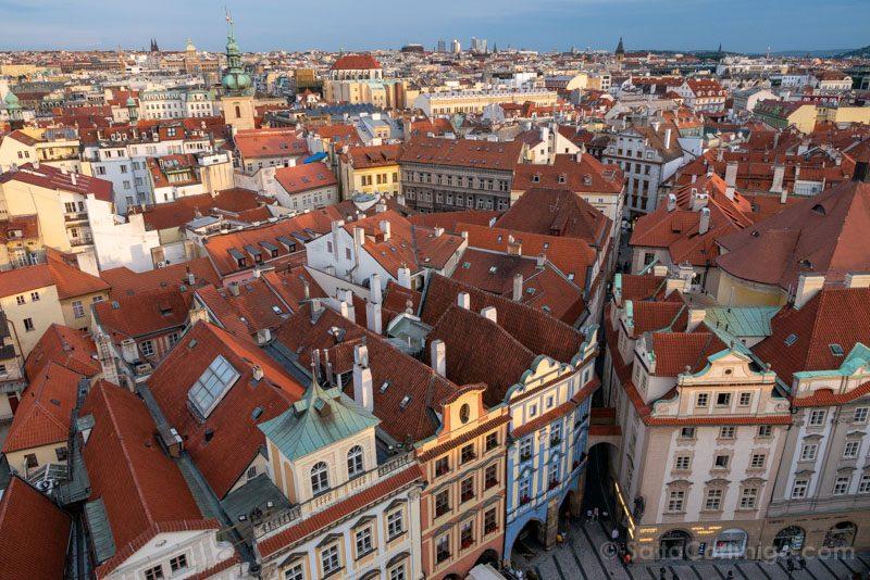 Miradores de Praga Ayuntamiento Viejo Tejados