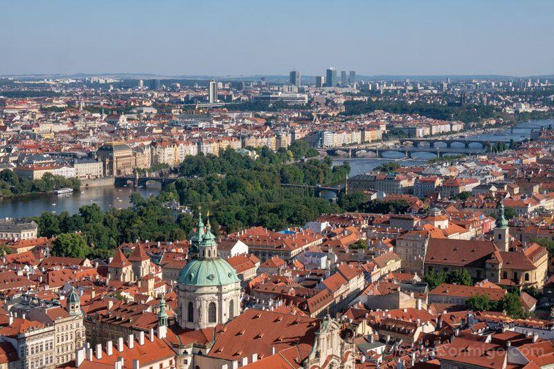 Miradores de Praga Torre Catedral Puentes Moldava